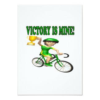 """La victoria es la mía invitación 5"""" x 7"""""""