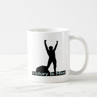 La victoria es la mía taza