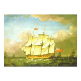 """La victoria que deja el canal en 1793 por Swaine Invitación 5"""" X 7"""""""