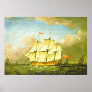 La victoria que deja el canal en 1793 por Swaine Póster