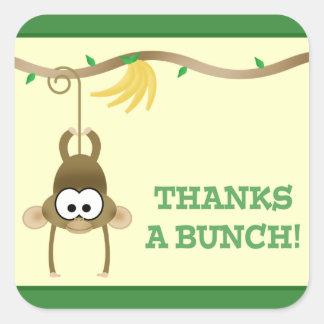 La vid del mono (verde) le agradece pegatina