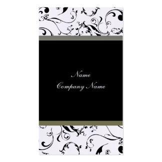La vid elegante remolina tarjeta de visita