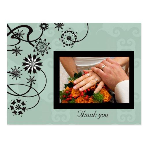 La vid floral le agradece cardar tarjetas postales