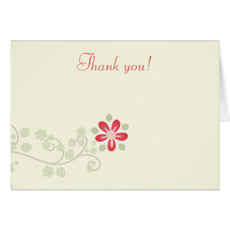 La vid simple de la flor doblada le agradece las n tarjetas