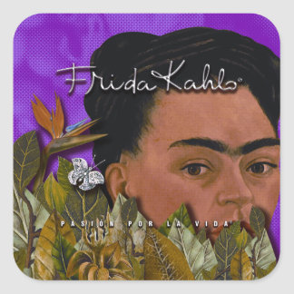 La Vida 2 de Frida Kahlo Pasion Por Pegatina Cuadrada