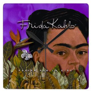 La Vida 2 de Frida Kahlo Pasion Por Reloj Cuadrado
