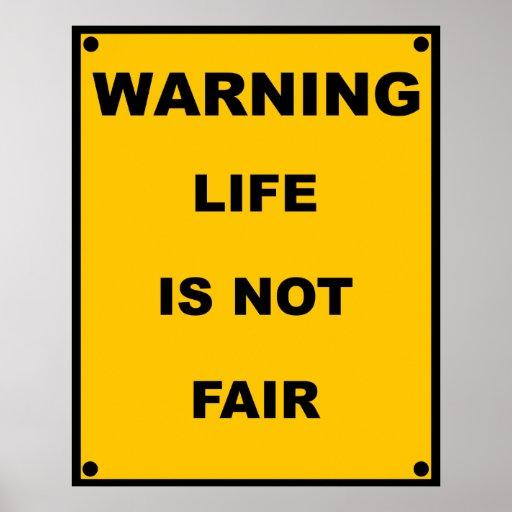 La vida amonestadora del ~ no es señal de peligro  impresiones