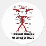 La vida atraviesa mi círculo de Willis (la salud) Pegatinas Redondas