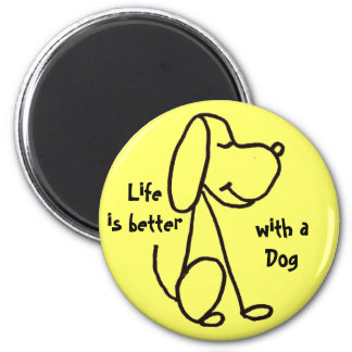 La vida AW es mejor con un imán del perro