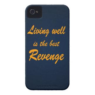 La vida bien es la mejor venganza Case-Mate iPhone 4 fundas