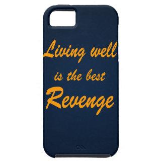 La vida bien es la mejor venganza iPhone 5 carcasa