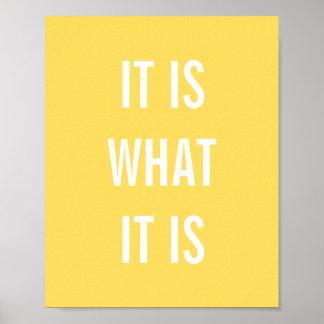 La vida blanca del amarillo inspirado de las citas posters