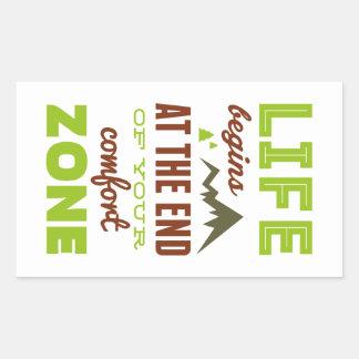 ¡La vida comienza! Diseño inspirado del vintage Pegatina Rectangular