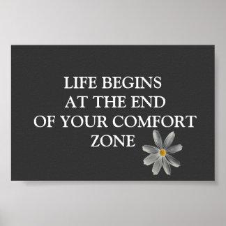 La vida comienza el poster inspirado