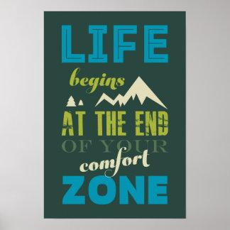 La vida comienza el poster inspirado de la