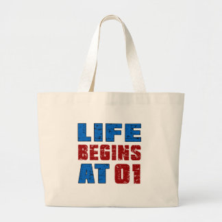 La vida comienza en 1 bolsa tela grande