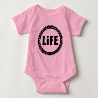 La vida comienza en el concepto body para bebé