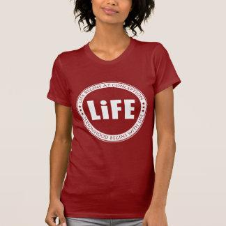 La vida comienza en el concepto camisetas