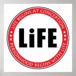 La vida comienza en el concepto poster