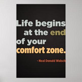 La vida comienza en el extremo (la plantilla grand póster