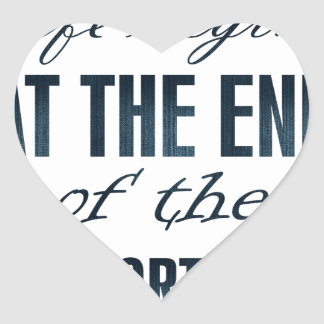 la vida comienza en el final de la zona de pegatina en forma de corazón