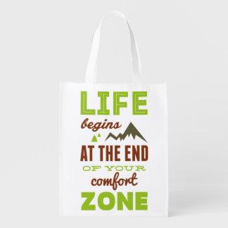 La vida comienza en el final de su zona de bolsa reutilizable