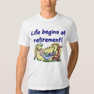 La vida comienza en la camiseta del retiro playeras