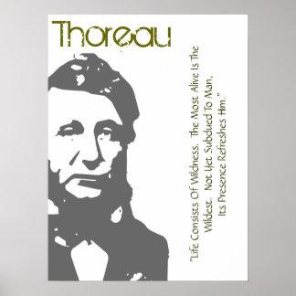 La vida consiste en el poster de Thoreau de la loc