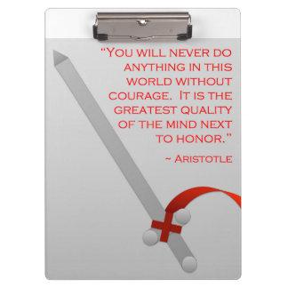 La vida de Aristóteles del valor y del honor