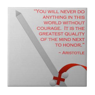 La vida de Aristóteles del valor y del honor Azulejo Cuadrado Pequeño