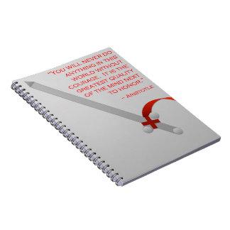 La vida de Aristóteles del valor y del honor Cuaderno