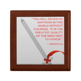 La vida de Aristóteles del valor y del honor Joyero Cuadrado Pequeño