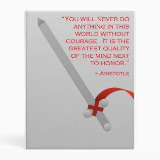 La vida de Aristóteles del valor y del honor Mini Carpeta