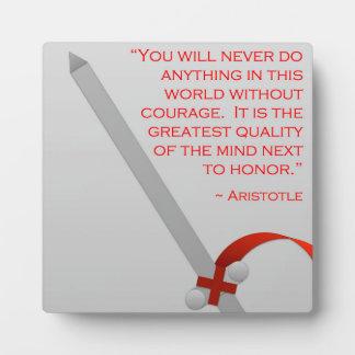 La vida de Aristóteles del valor y del honor Placa