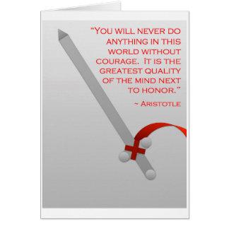 La vida de Aristóteles del valor y del honor Tarjeta De Felicitación