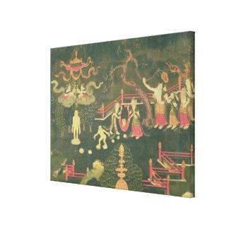 La vida de Buda Shakyamuni Impresión En Lienzo