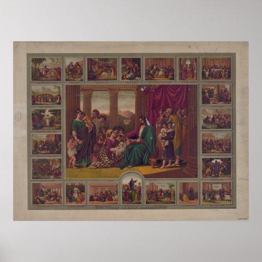 La vida de Cristo ilustró Poster