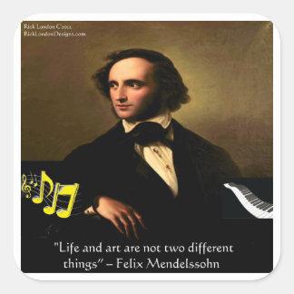 La vida de Felix Mendelssohn es regalos y tarjetas Calcomanía Cuadradase