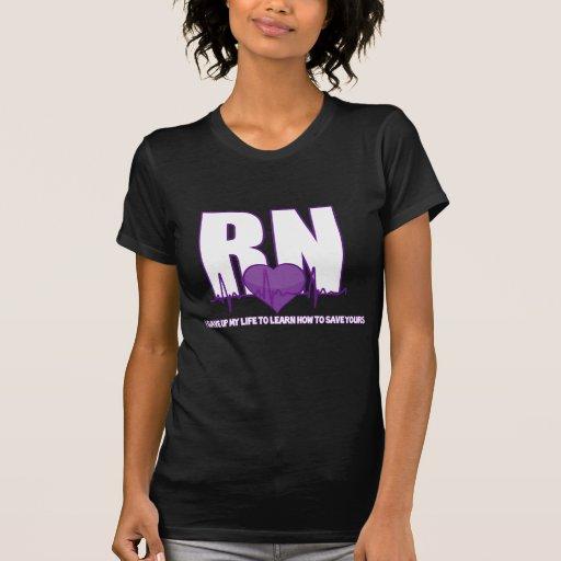La vida de la enfermera camisetas