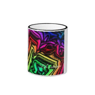 La vida de la taza es extraña - arco iris con la e