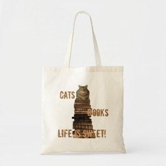 La vida de los libros de los gatos es dulce - marr bolsas