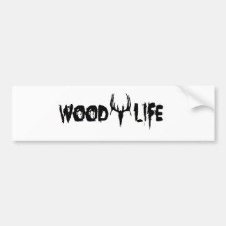 La vida de madera personaliza pegatina de parachoque