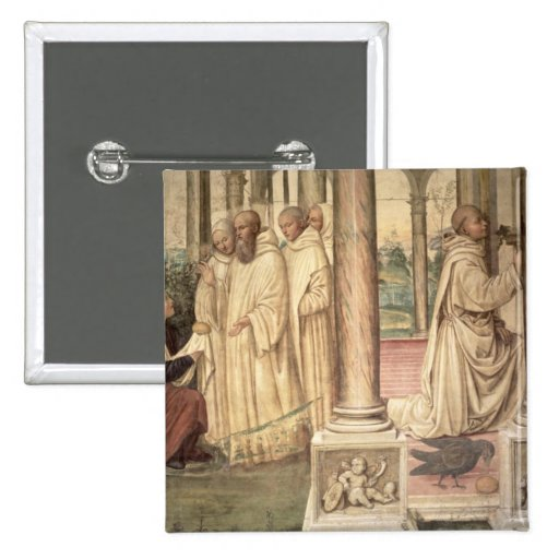 La vida de St. Benedicto (fresco) (detalle) 2 Pin