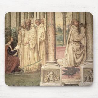 La vida de St. Benedicto (fresco) (detalle) 2 Tapetes De Ratón