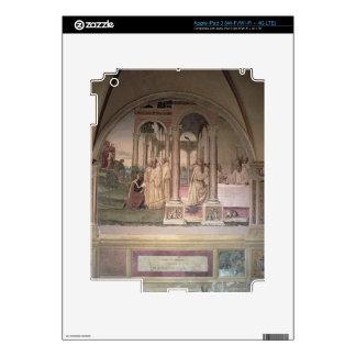 La vida de St. Benedicto (fresco) (detalle) 3 iPad 3 Pegatinas Skins