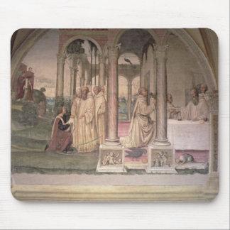 La vida de St. Benedicto (fresco) (detalle) 3 Tapetes De Ratones