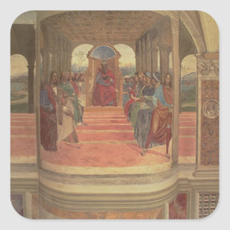 La vida de St. Benedicto (fresco) (detalle) Colcomania Cuadrada