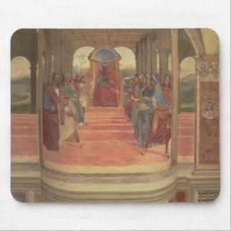 La vida de St. Benedicto (fresco) (detalle) Tapete De Ratones