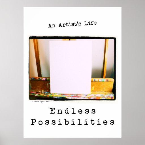 La vida de un artista: Poster sin fin de las posib
