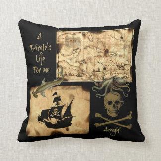 La vida de un pirata para mí mapa del Caribe del Cojín